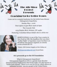 Come out to our comedy show fundraiser
