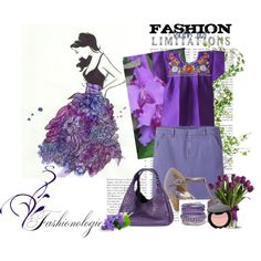"""simple purple"" by dahliafahrian on Polyvore"