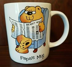 Vintage The Bear Family PAPA'S Coffee Mug Cup Russ Berrie   | eBay The Bear Family, I Love Coffee, Mug Cup, Vintage Gifts, Gifts For Dad, My Ebay, Coffee Mugs, Berries, Christmas Gifts