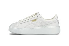 The PUMA Basket Platform Core Drops In Black And White Colourways