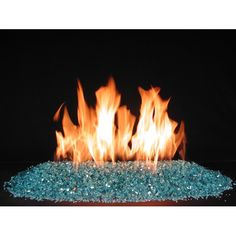 The Alterna FireGlitter vented fireplace glass kit is the best alternative to gas logs for anyone who would like to elevate their decor style with a stunning, modern display! Fireplace Glass Doors, Fireplace Kits, Gas Fireplace Logs, Rock Fireplaces, Fireplace Design, Fireplace Makeovers, Fireplace Update, Ventless Gas Logs, Glass Fire Pit