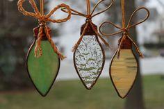 Handmade stained glass, glass ornament, suncatcher, tree ornament,