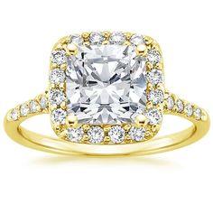 18K Yellow Gold Harmony Diamond Ring from Brilliant Earth