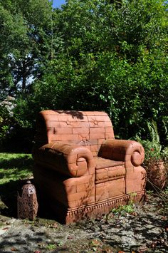 Hey, I found this really awesome Etsy listing at https://www.etsy.com/listing/194367401/community-seat-ii-brick-armchair