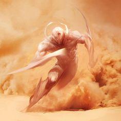 Arysliano, uma raça que evoluiu com altas capacidades, por causa dos ambientes hostis em seu planeta