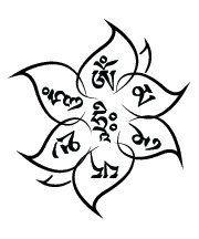 Yoga Lotus Om Mani Padme Hum Temporary Tattoo myTaT