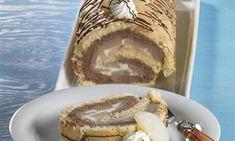 Biskuitrolle Birne Helene Rezept   Dr. Oetker French Toast, Breakfast, Ethnic Recipes, Food, Mudpie, Oven, Food Portions, Pears, Food Food
