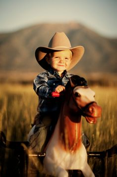 Cowboy in training... but with the girls