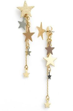 Topshop 'Star Cascade' Front/Back Earrings $14