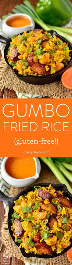 Gumbo Fried Rice gives you those signature southern flavors in way less time than it takes to boil a pot of gumbo!