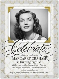 Need Excellent Hints About Invitations Head Out To My Amazing Info 75th Birthday Parties