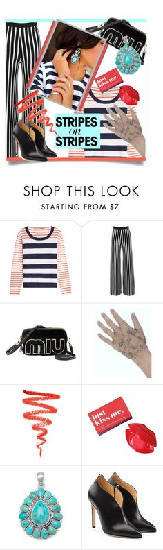 """""""Pattern Challenge: Stripes on Stripes"""" by kari-c ❤ liked on Polyvore featuring 81 Hours, Illamasqua, Avon, Chloe Gosselin, stripesonstripes and PatternChallenge"""