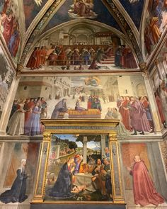 La Cappella Sassetti del Ghirlandaio in Santa Trinita a Firenze Rome Tours, Italy Tours, Michelangelo, Florence Tours, Florence Italy, The David Statue, Florence Renaissance, Florence Cathedral, Day Trips From Rome