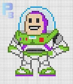 Buzz Lightyear Toy Story perler pattern - Patrones Beads / Plantillas para Hama by paige