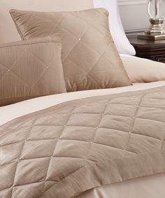 Loving this Gold Swarovski Crystal Bed Scarf Set on #zulily! #zulilyfinds