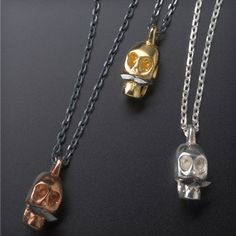 Tina Lilienthal Skull with Moustache Necklace-£66 http://www.cottonandgems.com/jewellery/necklaces/tina-lilienthal-skull-with-moustache-necklace