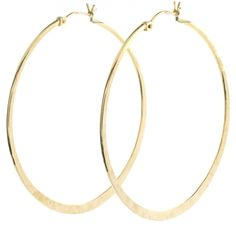 Judith Bright Jewelry - GF Large Textured Hoops, $68.00