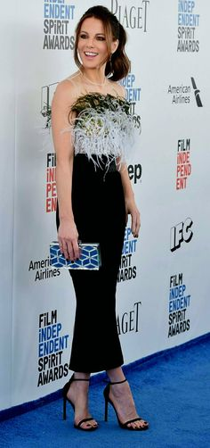 Kate is wearing a wearing a Pamella Roland design at the Film Independent Spirit awards in Santa Monica - February 25th 2017