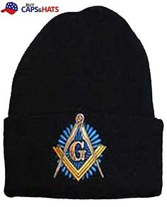673bd488 Buy Caps and Hats Masonic Winter Skull Cap Beanie Freemason Mens One Size  Black Buy Caps