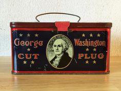 George Washington Cut Plug Vintage Tobacco by RedRavenCollectibles