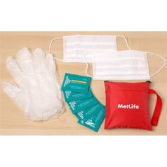 10 Piece Travel Flu Kit -- Whether you are traveling or at home, this handy flu kit has the basic components to help protect you from the flu and cold season. This kit comes with 2 anti-virus masks, 2 rubber gloves, 5 antiseptic wipes.