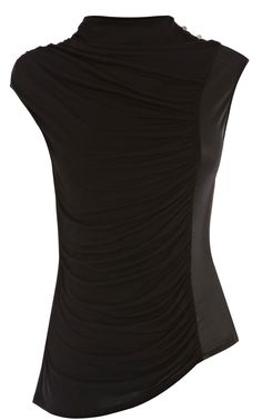 Draped and wrapped jersey top