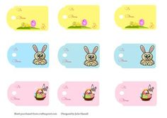 Set of Easter tags on Craftsuprint designed by Julie Hassall - These are perfect tags for your Easter gifts or to attach to Easter eggs. The sheet has 3 different designs, 3 of each one. Please take a look at my other designs. - Now available for download!