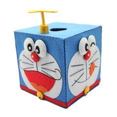 Craft Cloth Sewing Diy Kit Facial Tissue Box Doraemon Table Decor Art Gifts