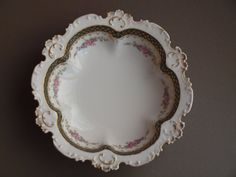Limoges serving bowl  CH Field GDA France by EleanorsVintage