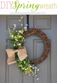 DIY Floral Spring Wreath