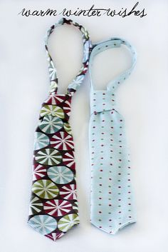 Little Boy Neckties - tutorial