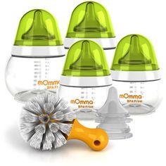 Lansinoh - mOmma Baby Bottle Kit with Nipples, BPA-Free
