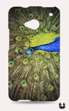 HTC One Phone Case, HTC One Case Peacock