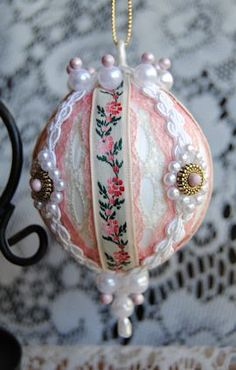 victorian beaded ornaments | Handmade Old World Victorian Heirloom Beaded Christmas Ornaments