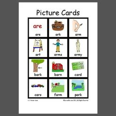 "Prevocalic ""ar"" word Cards - All positions - Pinned by @PediaStaff – Please Visit  ht.ly/63sNt for all our pediatric therapy pins"