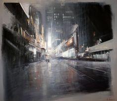ALEXEY ALPATOV - NY night, 2014, acrylic on canvas