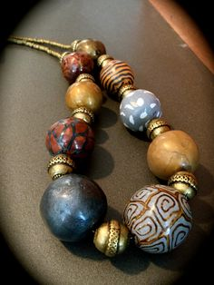 https://flic.kr/p/DydaeL | IMG_4743 | large beads, polymer necklace, premo