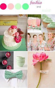 Verde menta + rosa