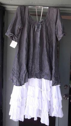 Meg By Design Silk Longsleeve tunic