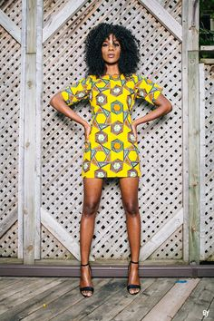 Ankara Shift Dress | zuvaa.com ~African fashion, Ankara, kitenge, African women dresses, African prints, African men's fashion, Nigerian style, Ghanaian fashion ~DKK