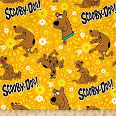 Scooby Doo Scooby Orange from @fabricdotcom  Licensed to Camelot Fabrics, this cotton print Scooby-Doo collection is perfect for quilting, apparel and home decor accents. Colors include orange, yellow, blue, black, red and white.