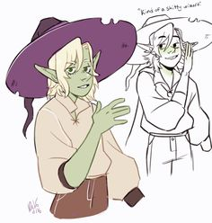 Ive just been listening to taz and drawing taako all day woops