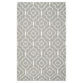 Found it at AllModern - Dhurries Grey/Ivory Area Rug