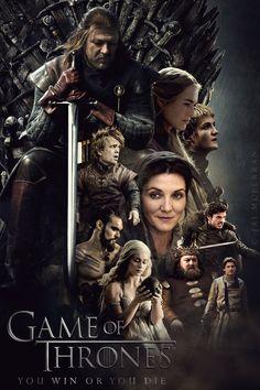Game of Thrones Season 1 poster by JaiMcFerran