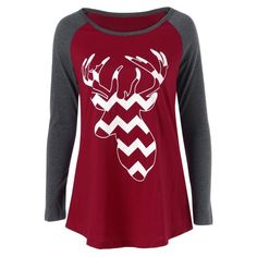 15.2$  Watch now - http://di8lr.justgood.pw/go.php?t=197583403 - Zigzag Elk Print T-Shirt
