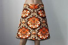 Items similar to Boho Skirt from Fabric. on Etsy Boho Inspiration, Made Clothing, Boho Skirts, Rock, Etsy, Vintage, 1970s, Fabric, How To Wear