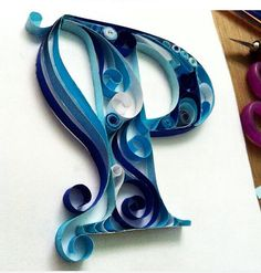 Quilled P