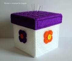 Scatola cucito e puntaspilli fatta a mano , by Ricamo e creazioni by Angela, 14,00 € su misshobby.com