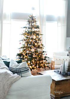 Country Living Christmas Home Tour Living Room MyFabulessLife.com