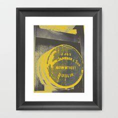 Jameson barrel art print Framed Art Print by TheCheekyPixel - $35.00